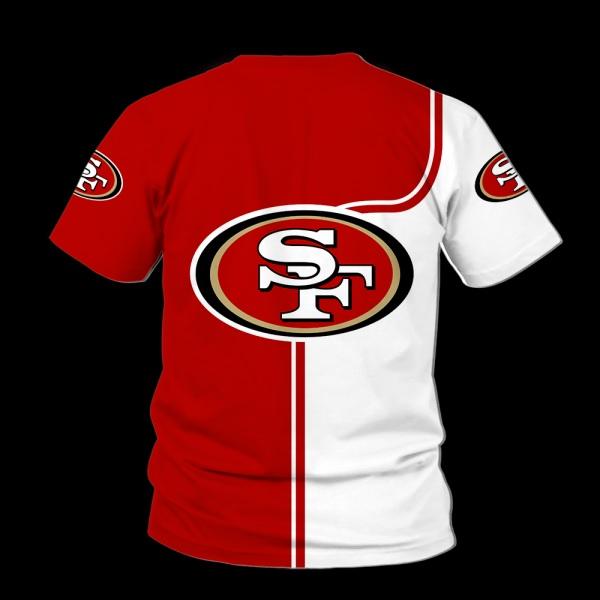Baby yoda san francisco 49ers full over print tshirt - back