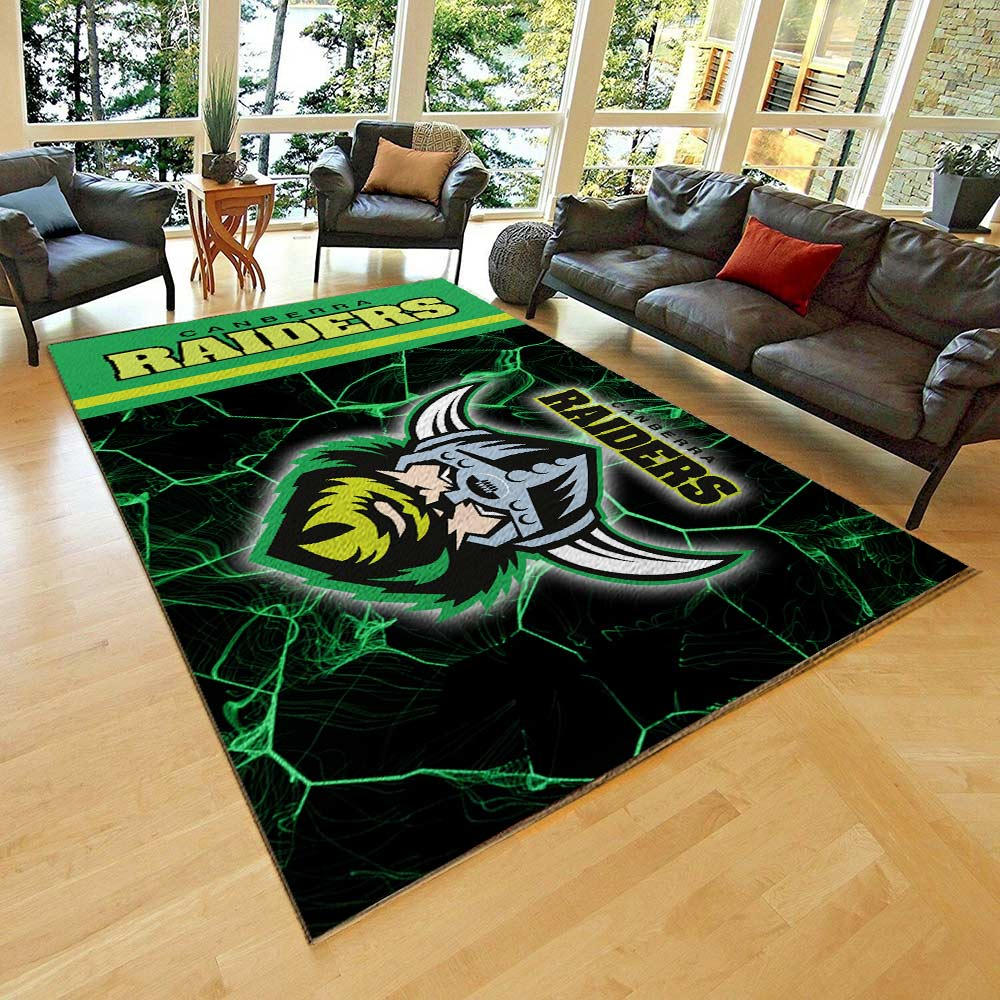 Canberra raiders all over print rug 2