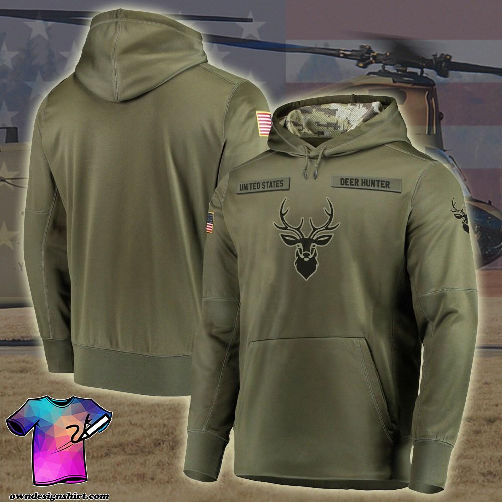 Deer hunter camo style full printing shirt