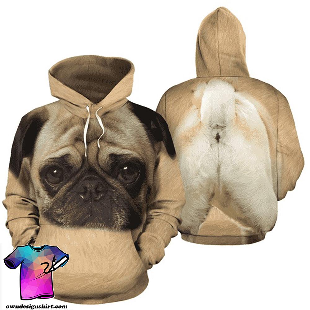 Dog pug full printing shirt