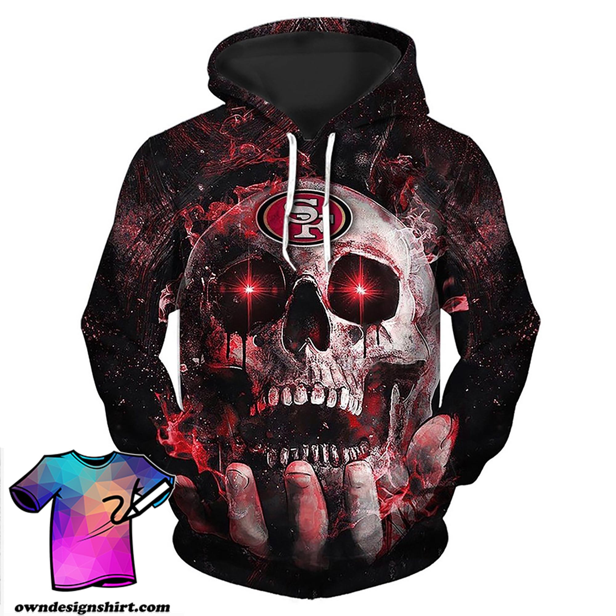 Electro skull san francisco 49ers full printing shirt