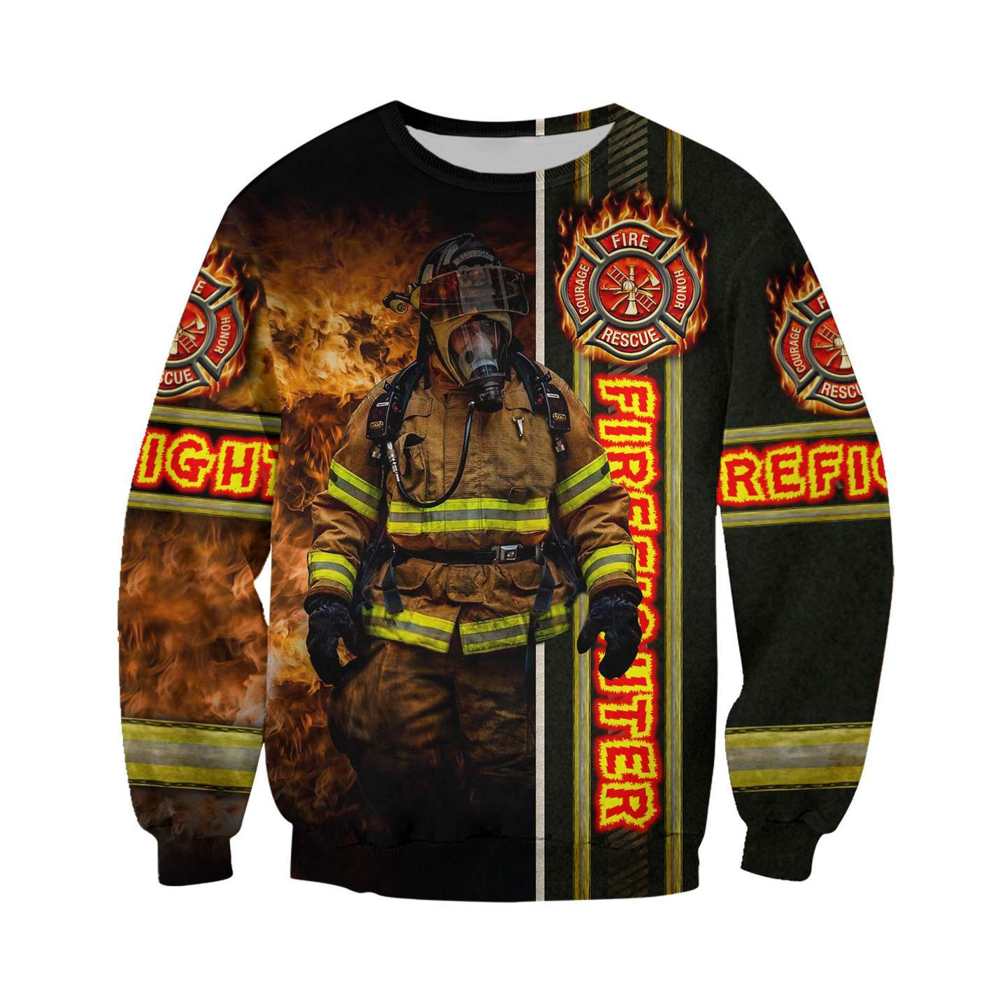 Fire fight 3d all over printed sweatshirt