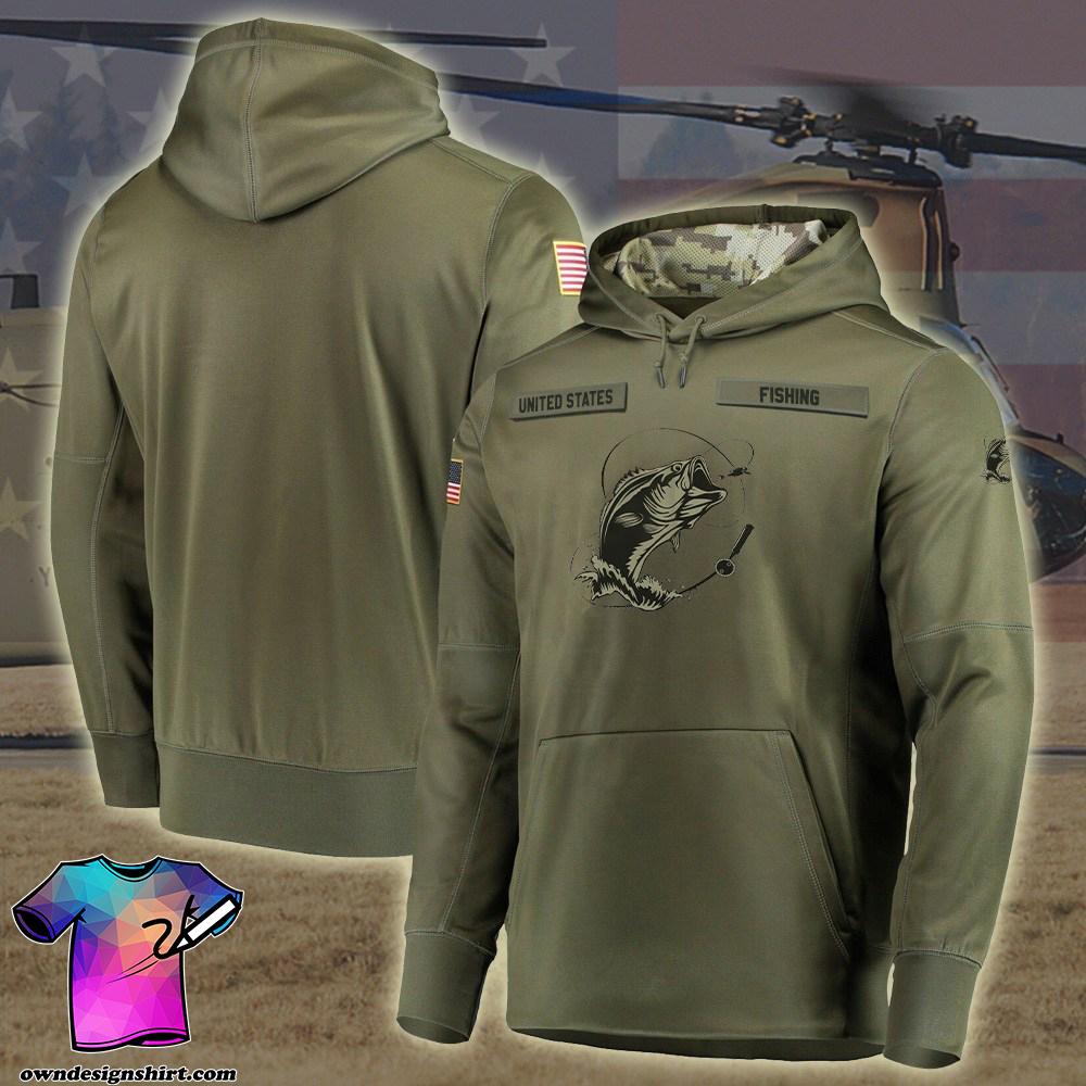 Fishing camo style full printing shirt