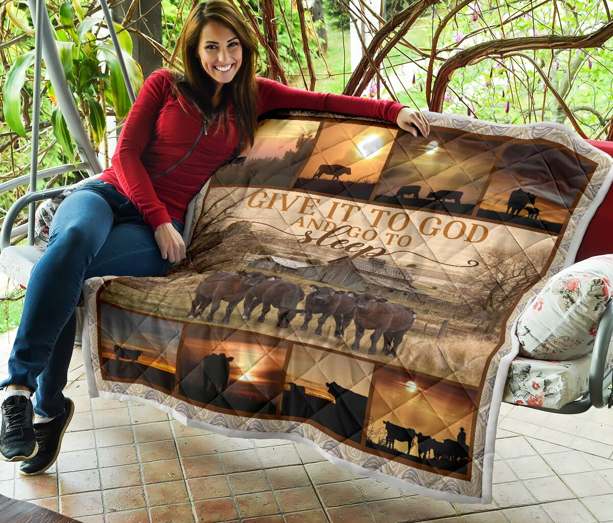 Give it to God and go to sleep farming full printing quilt 2