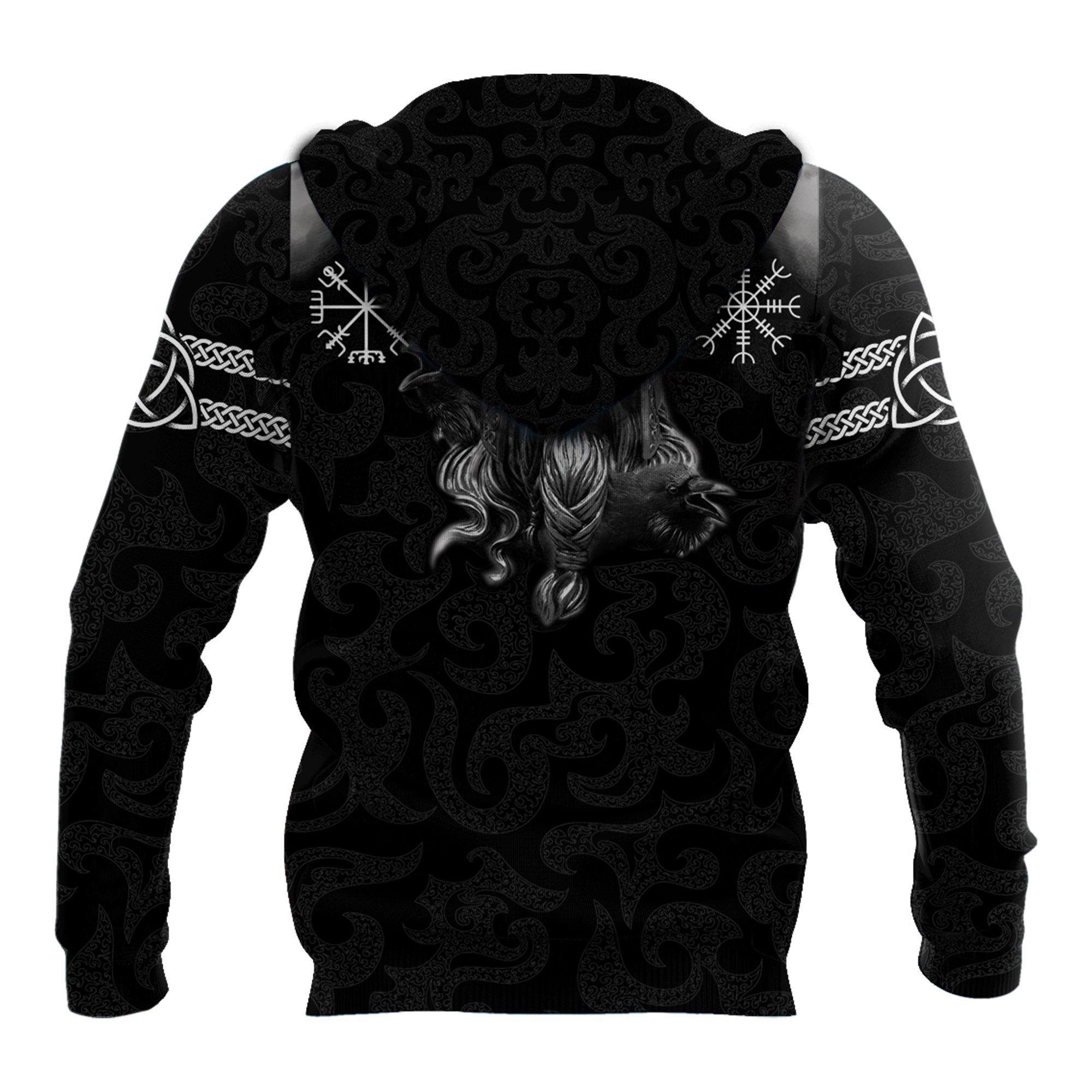 Hammer of thor forever we are one viking full printing hoodie - back