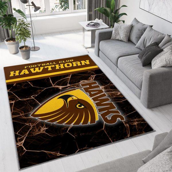 Hawthorn football club full printing rug 1