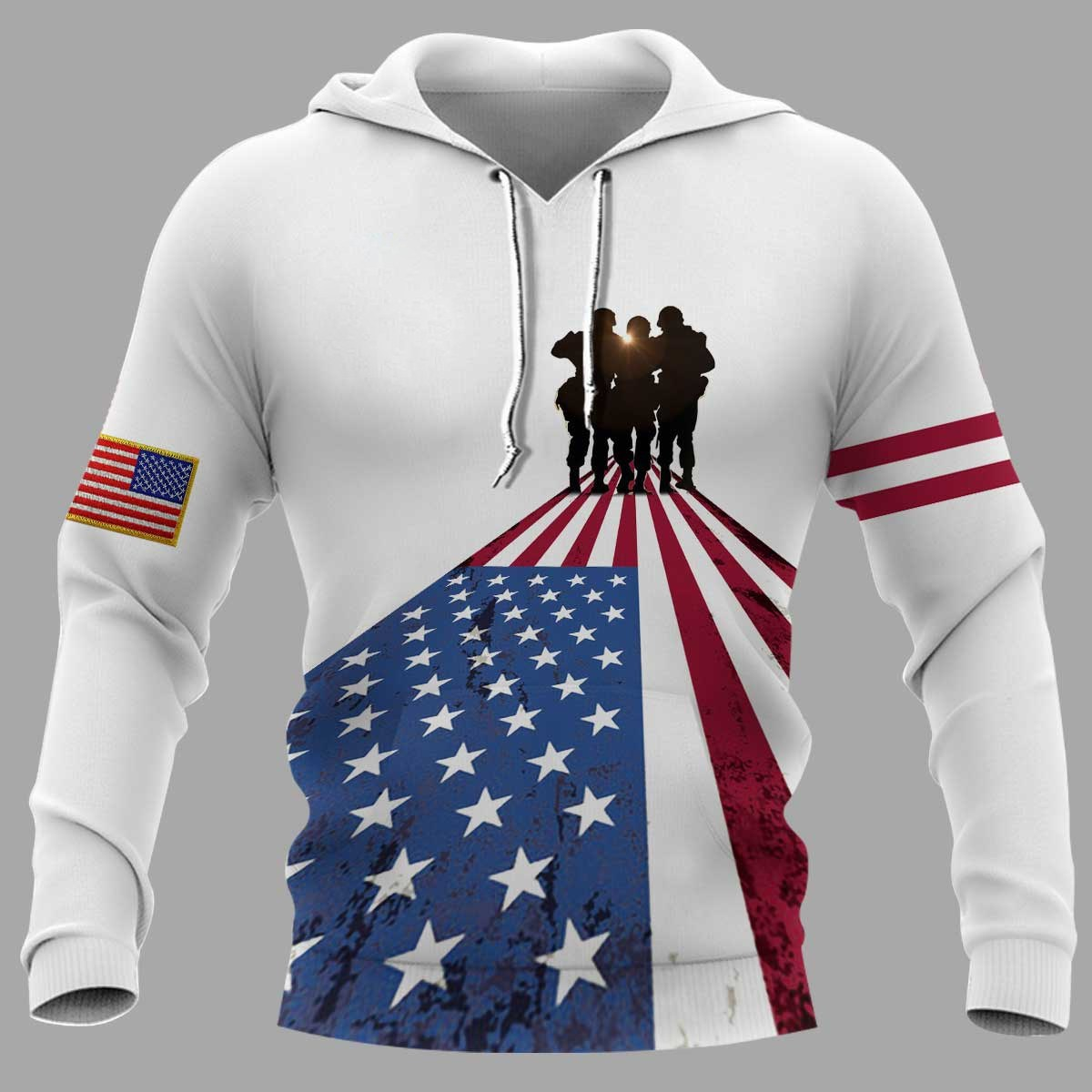 I took a dna test god is my father veterans are my brothers all over print hoodie