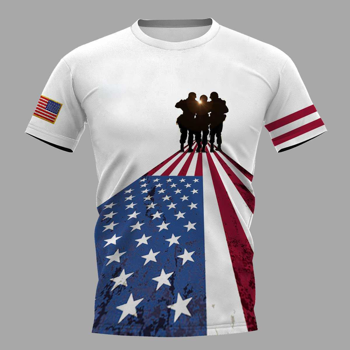 I took a dna test god is my father veterans are my brothers all over print tshirt