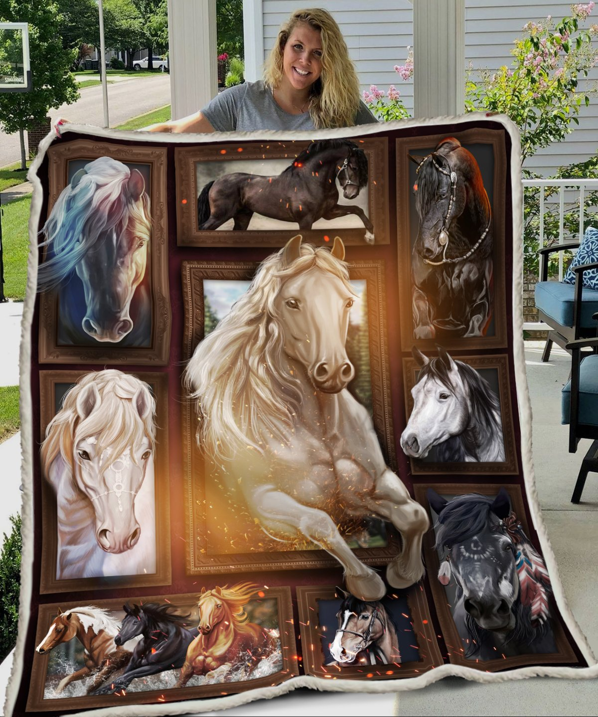 Love horse full printing blanket 1