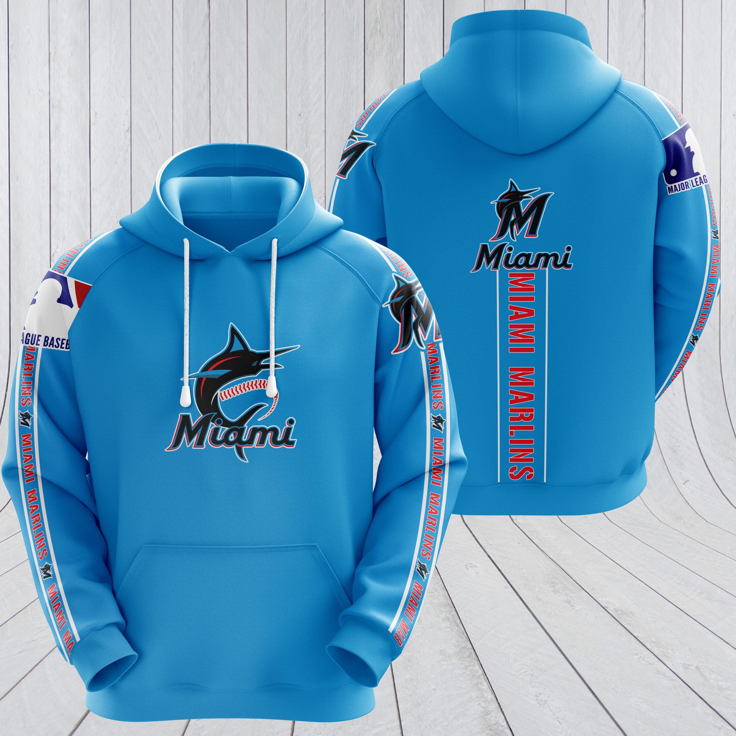 MLB miami marlins full printing hoodie - teal