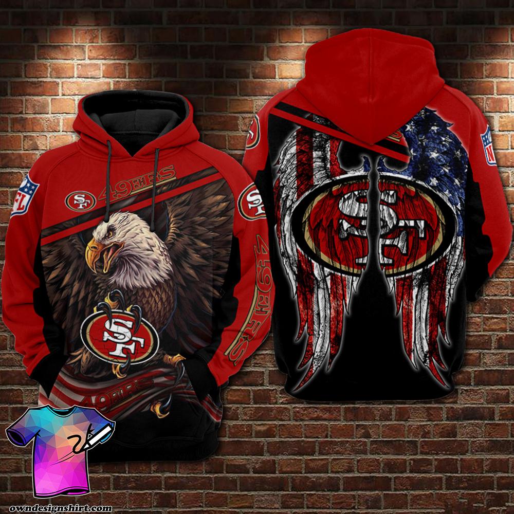 NFL San francisco 49ers Eagle full printing shirt