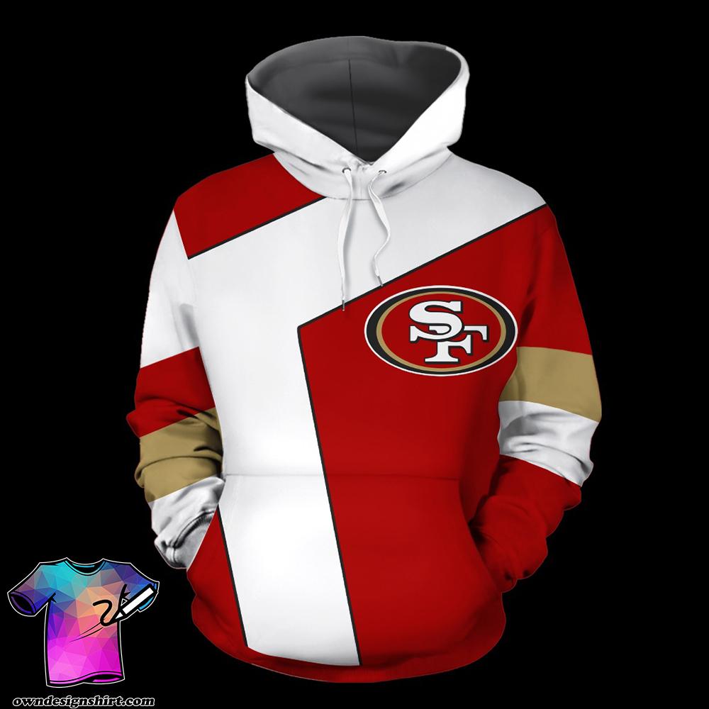 NFL san francisco 49ers full over print shirt
