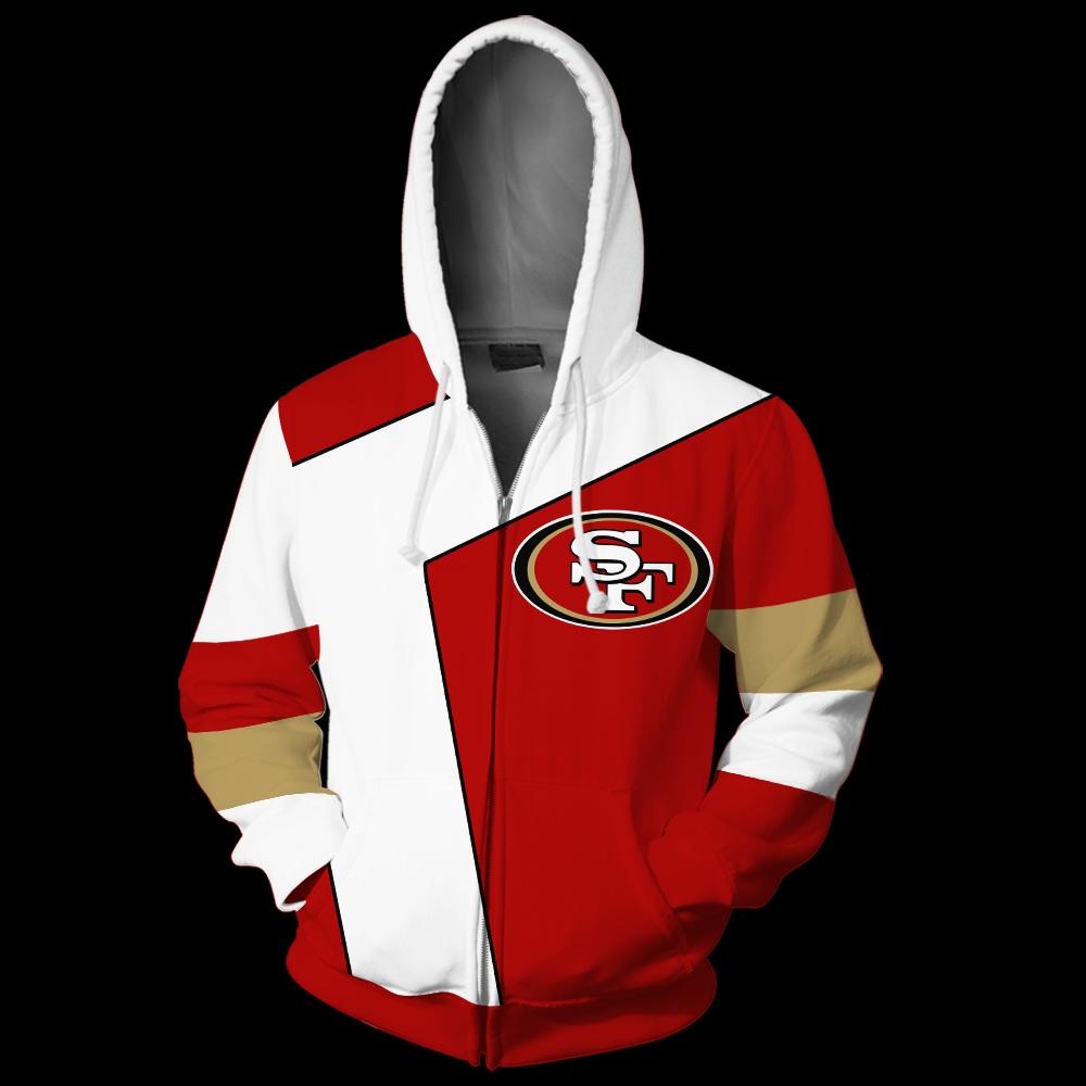 NFL san francisco 49ers full over print zip hoodie