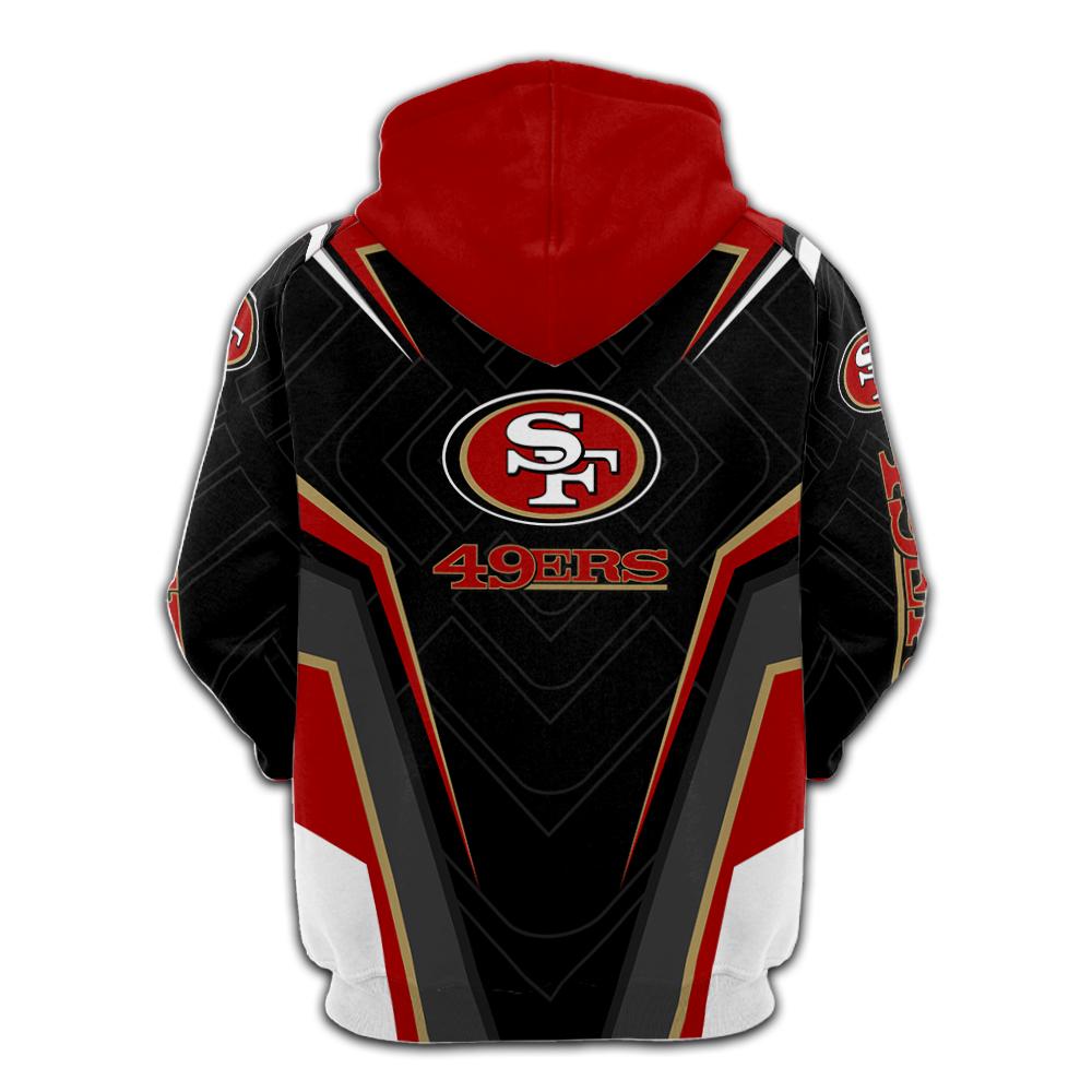 NFL san francisco 49ers full printing hoodie - back