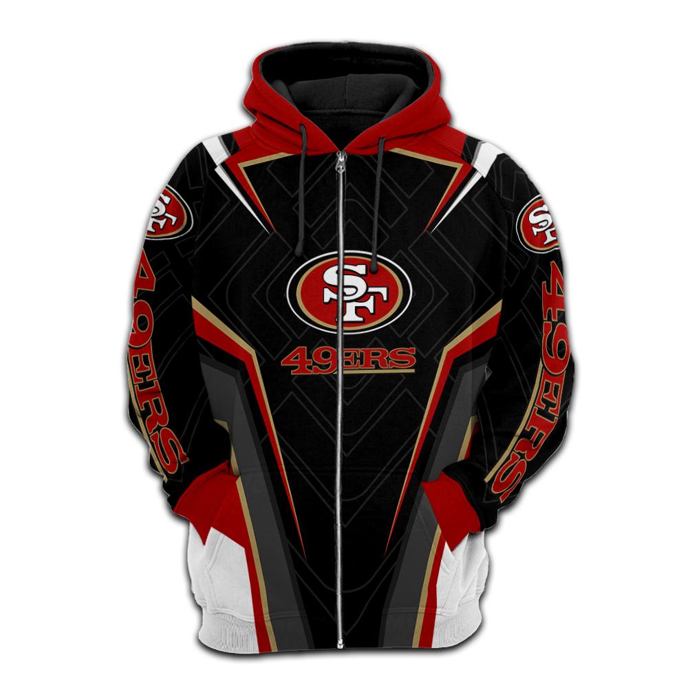 NFL san francisco 49ers full printing zip hoodie