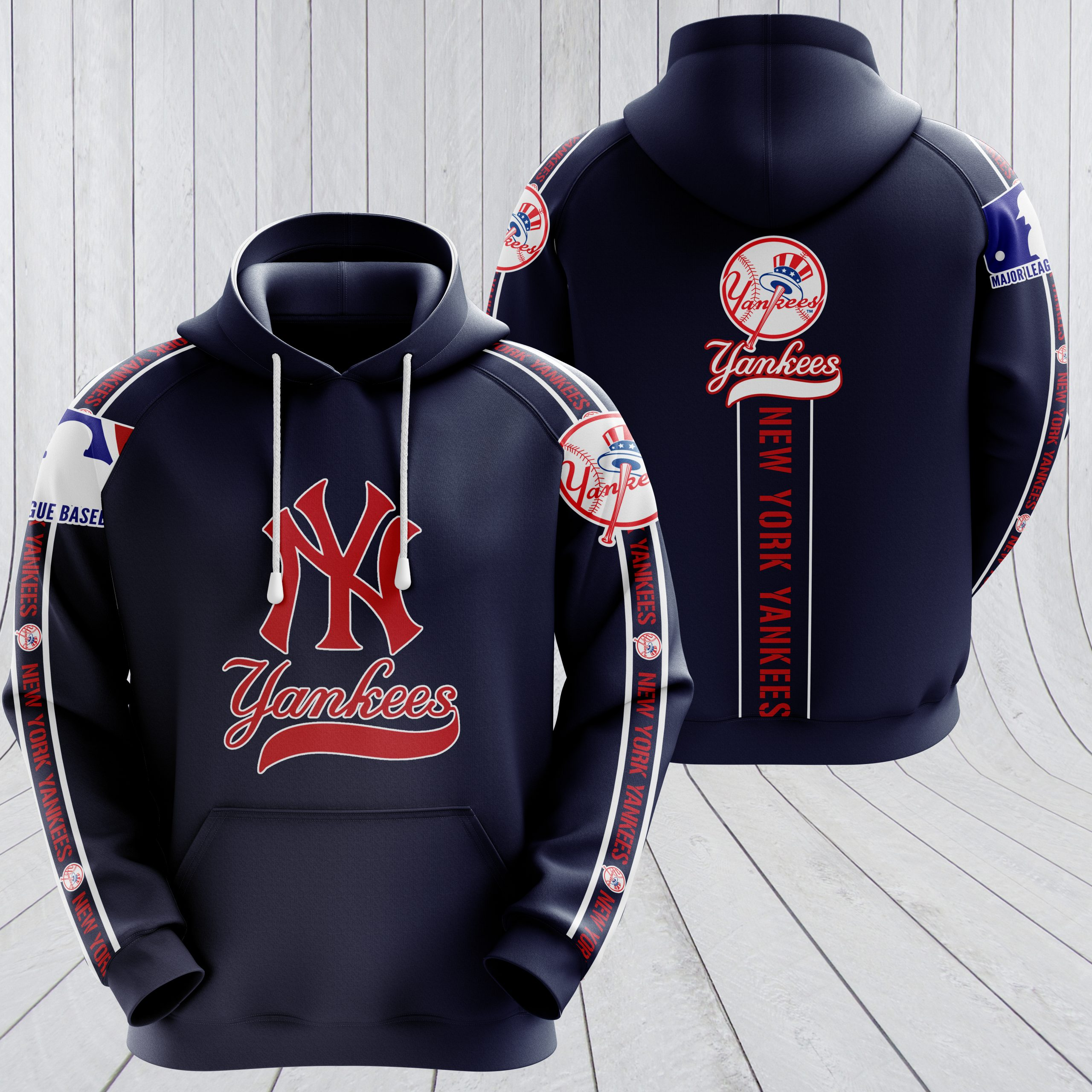 New york yankees baseball all over printed hoodie 1