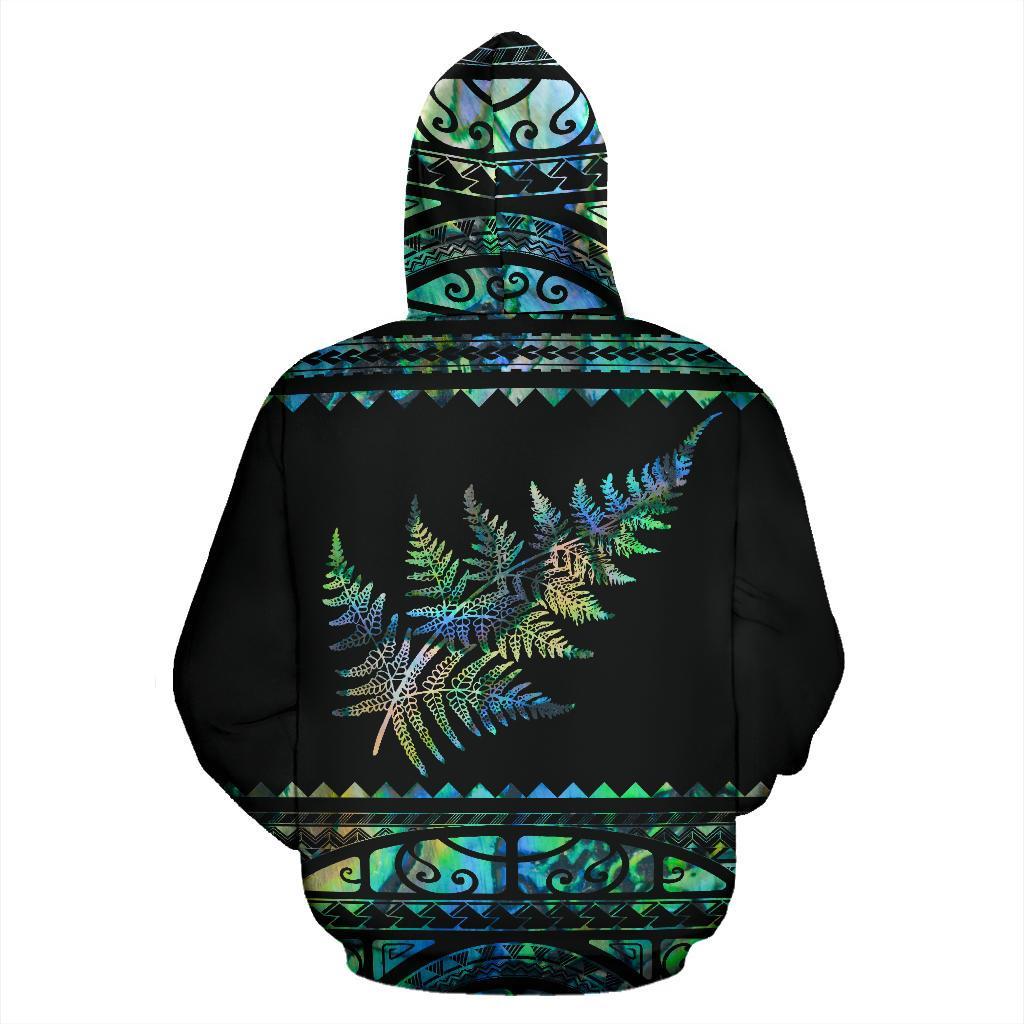 New zealand silver ferns aotearoa full printing hoodie - back