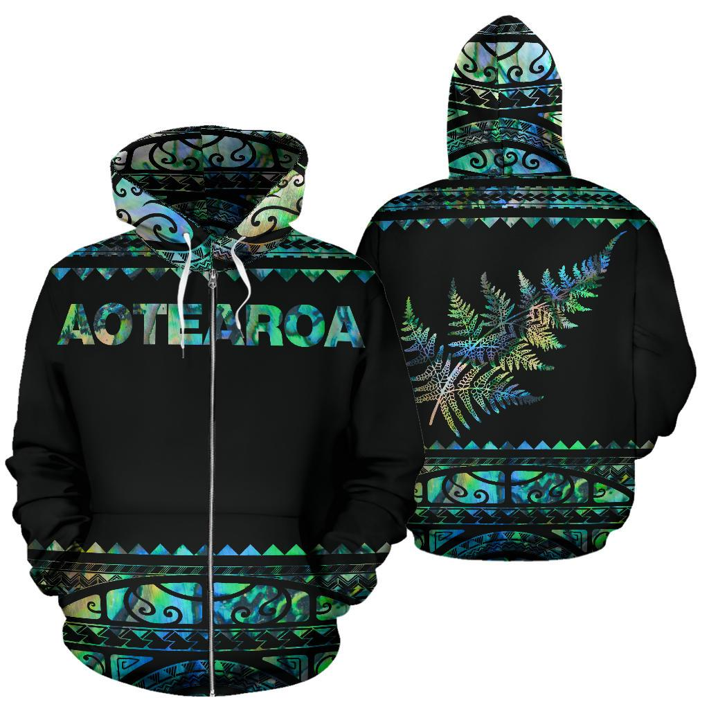 New zealand silver ferns aotearoa full printing zip hoodie