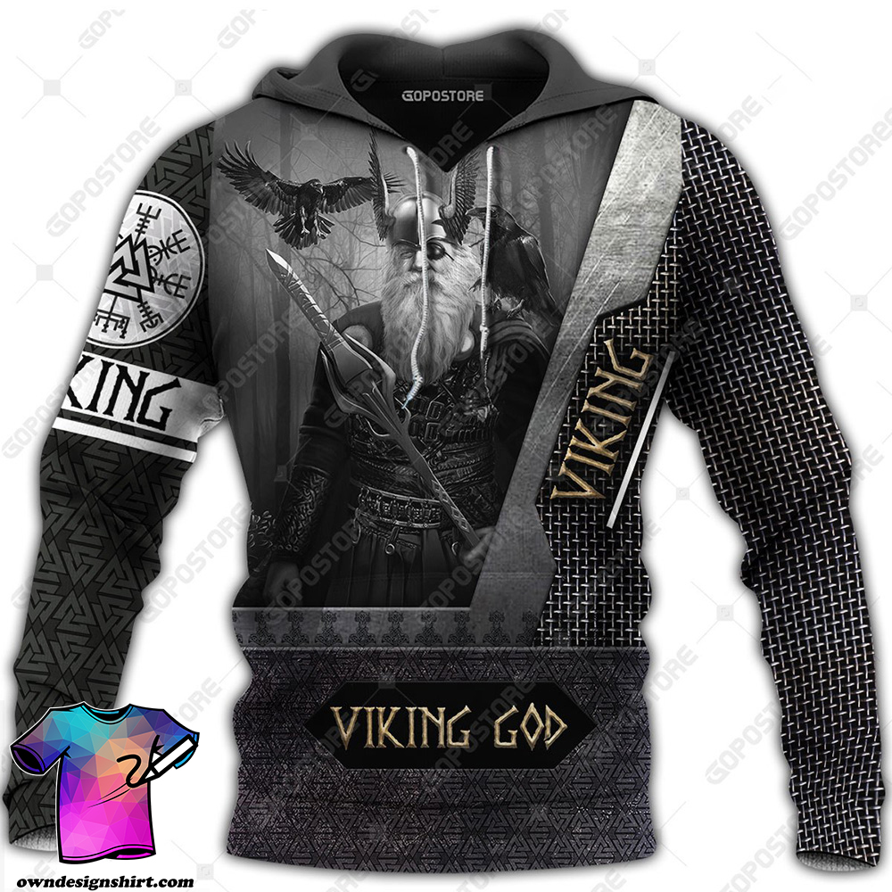 Odin the all father viking full printing shirt