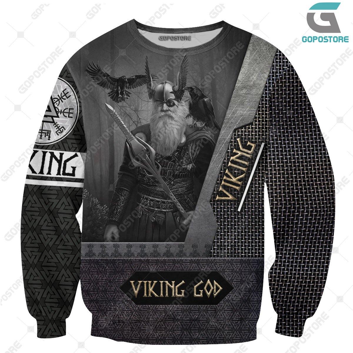 Odin the all father viking full printing sweatshirt