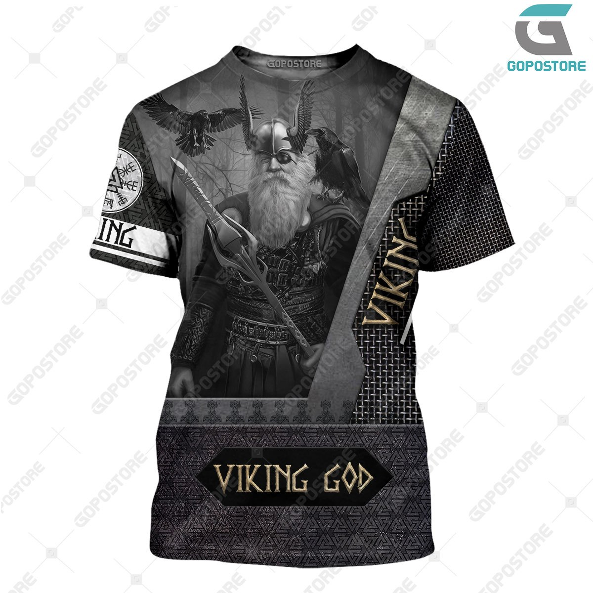 Odin the all father viking full printing tshirt
