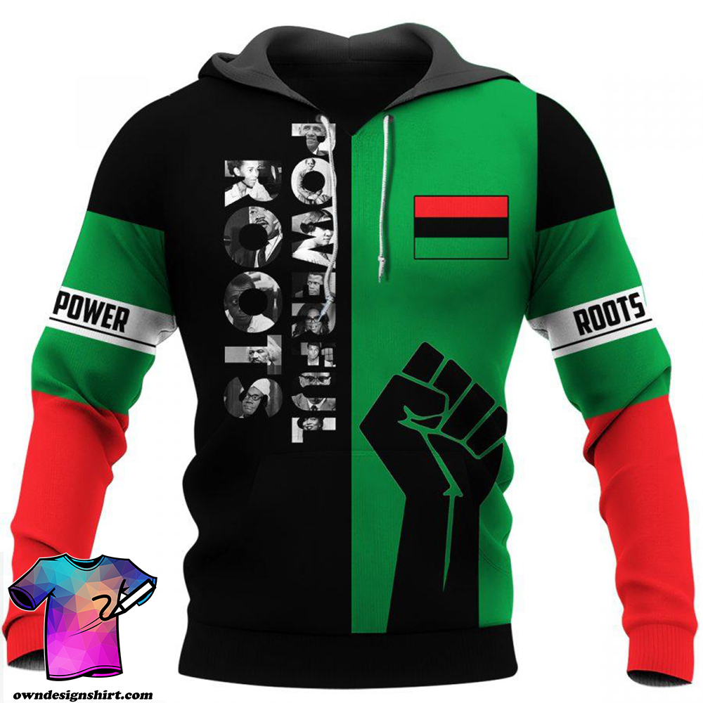 Powerful roots black history month full printing shirt