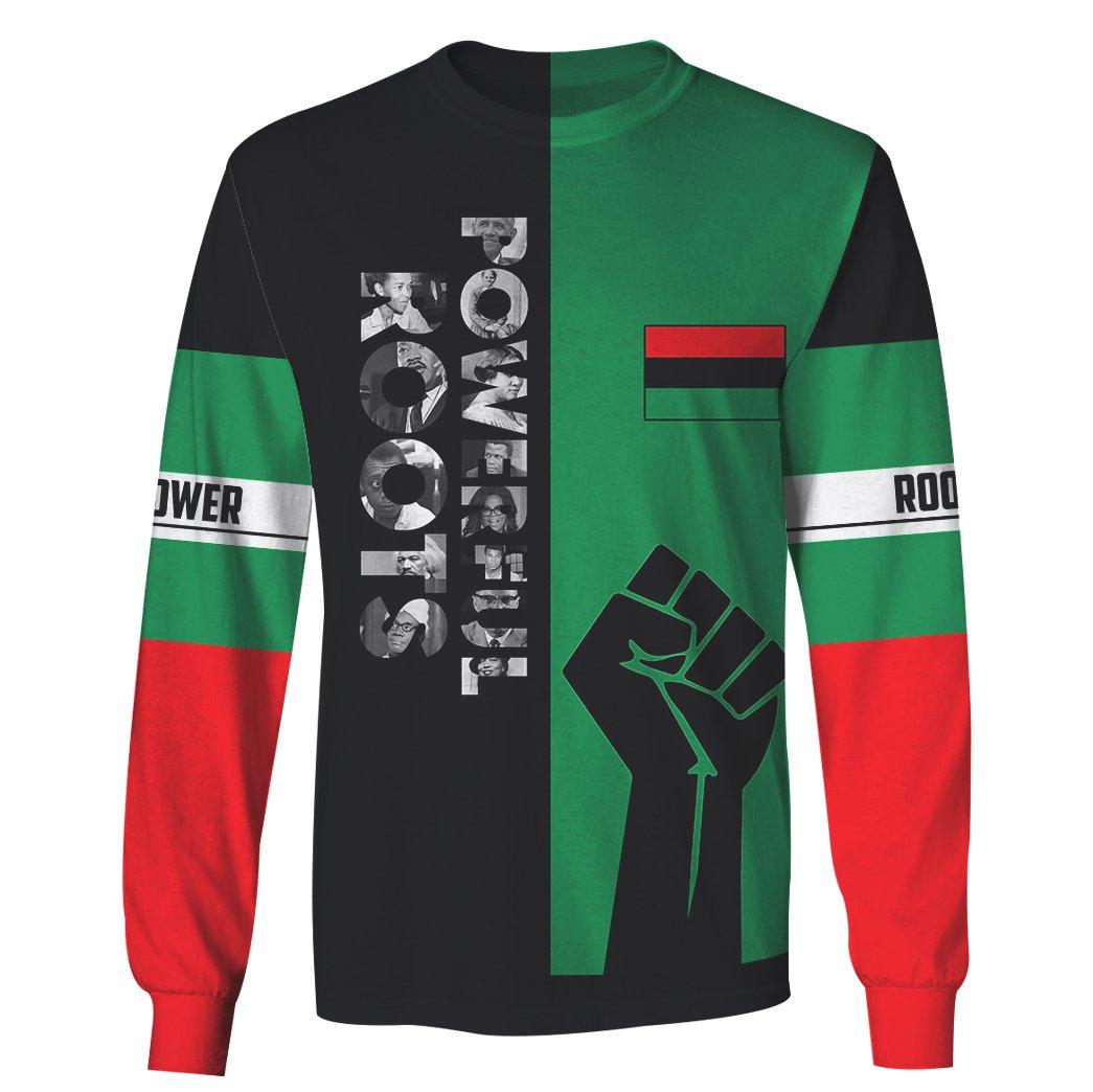 Powerful roots black history month full printing sweatshirt 1
