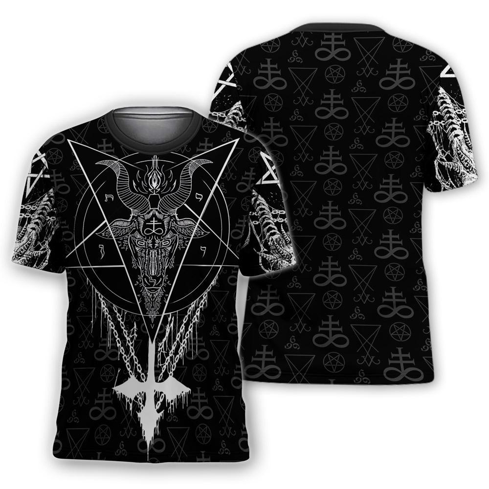 Satanic all over printed tshirt