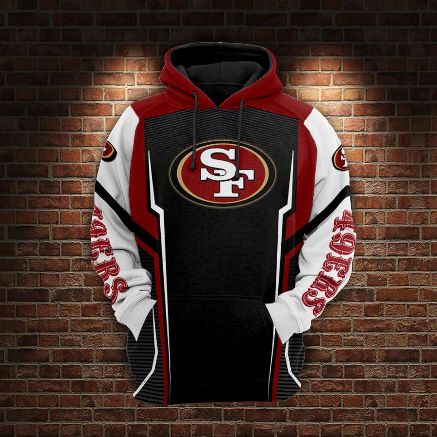 Skull san francisco 49ers full printing hoodie 1