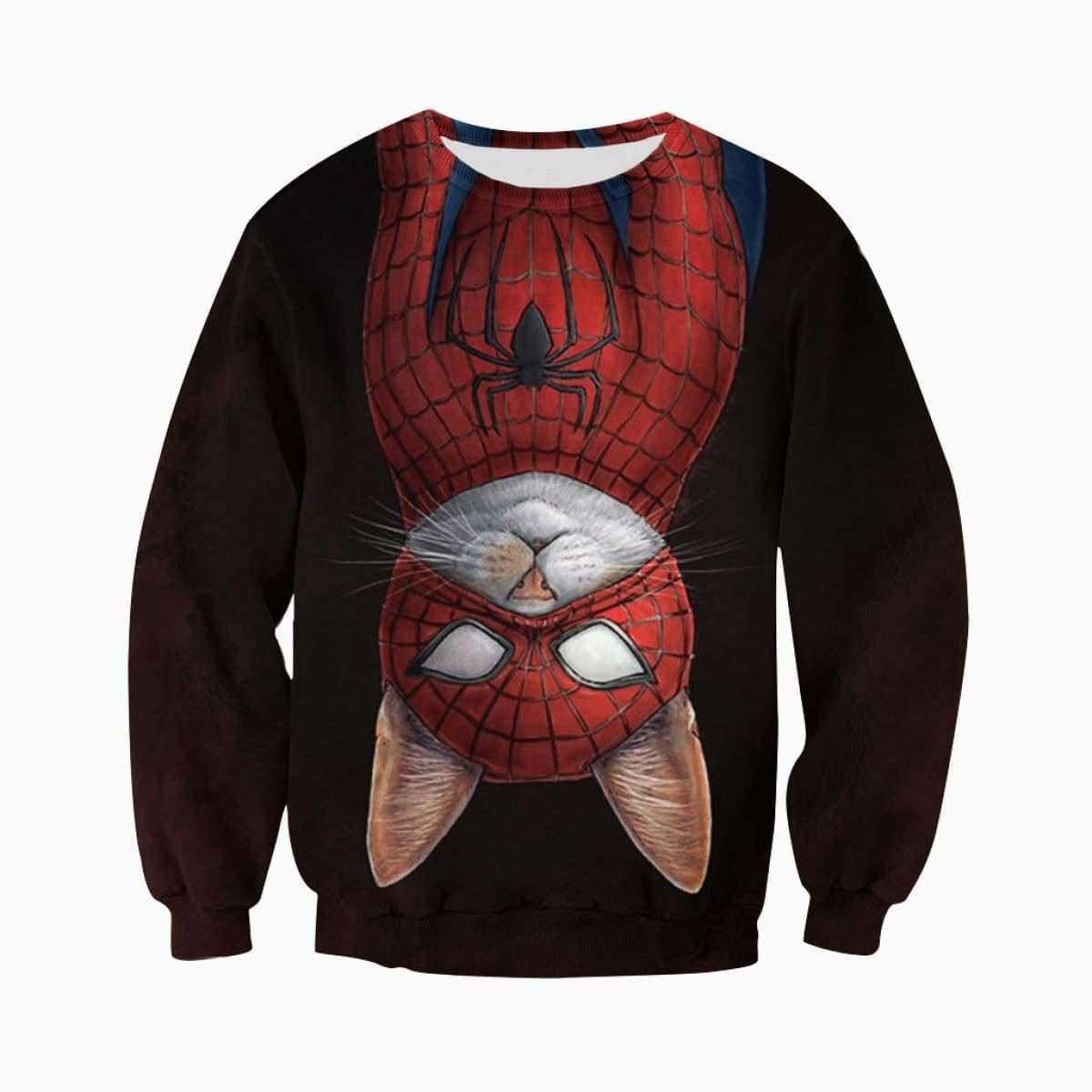 Spider-cat all over printed sweatshirt