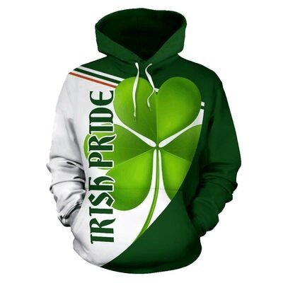 St patrick's day irish pride full over print hoodie 1