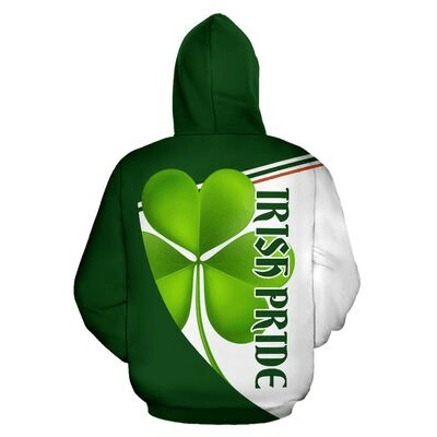 St patrick's day irish pride full over print hoodie 2
