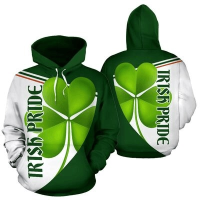 St patrick's day irish pride full over print hoodie