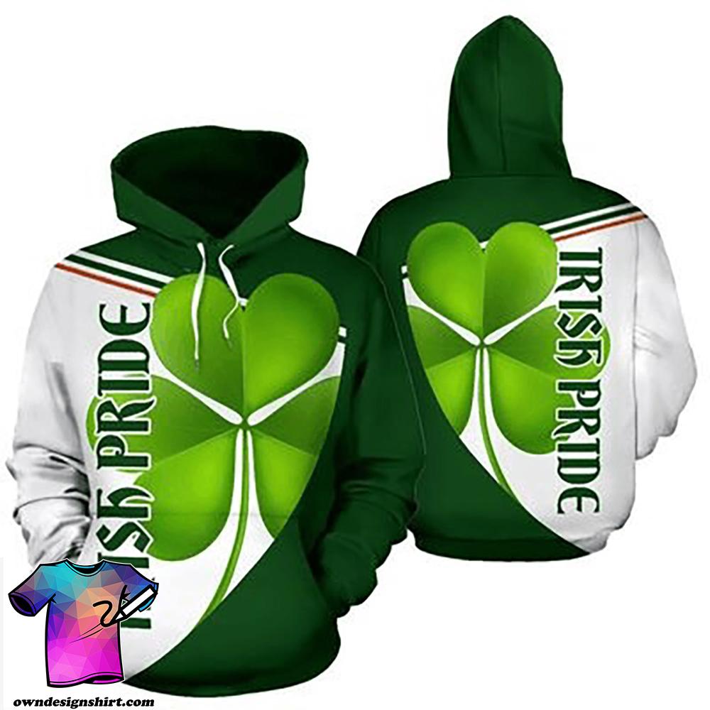St patrick's day irish pride full over print shirt