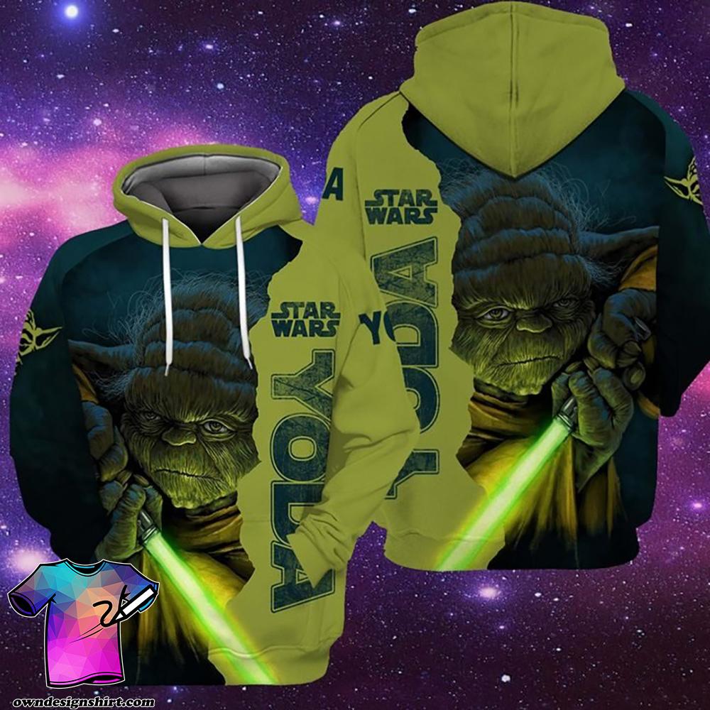 Star wars baby yoda full over print shirt