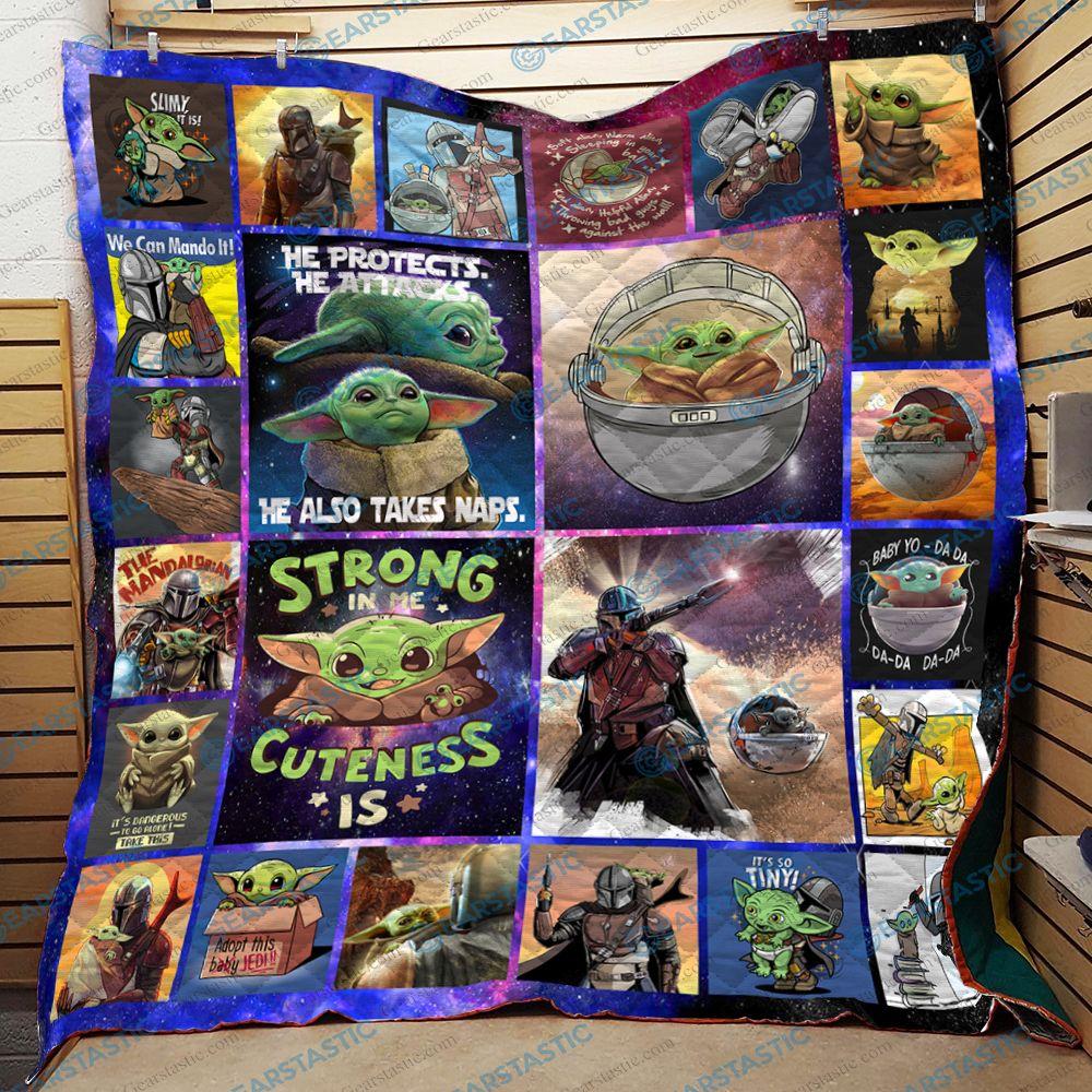 Star wars baby yoda quilt 1