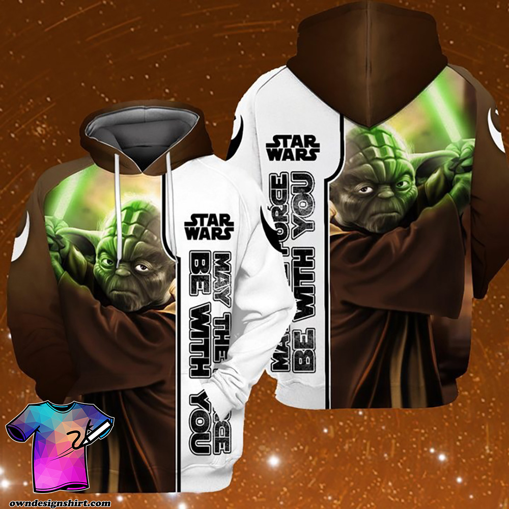 Star wars may the force be with you baby yoda full printing shirt