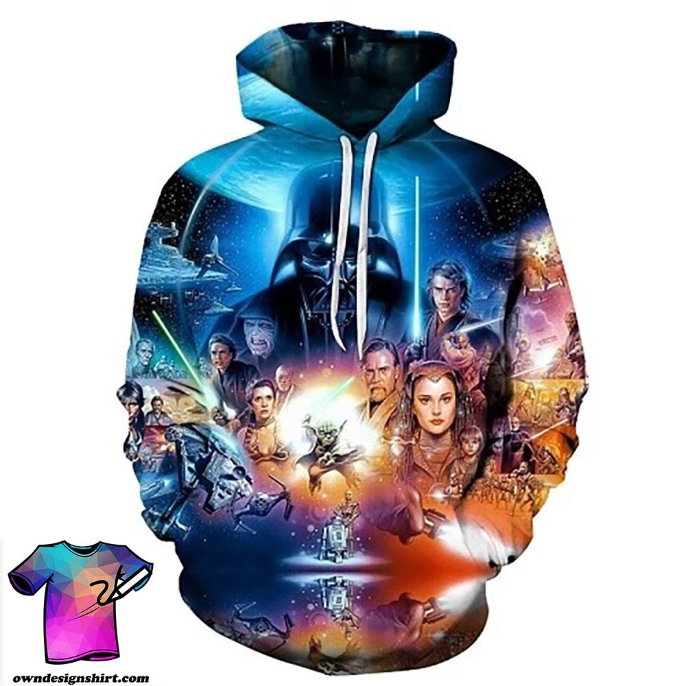 Star wars poster full over print shirt