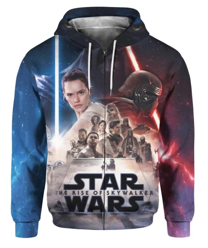 Star wars the rise of skywalker full printing zip hoodie 1
