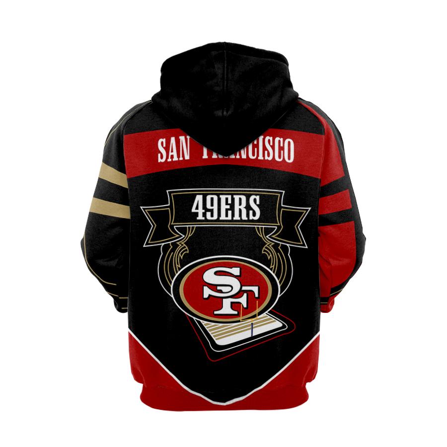 Super bowl san francisco 49ers nfl full printing hoodie - back