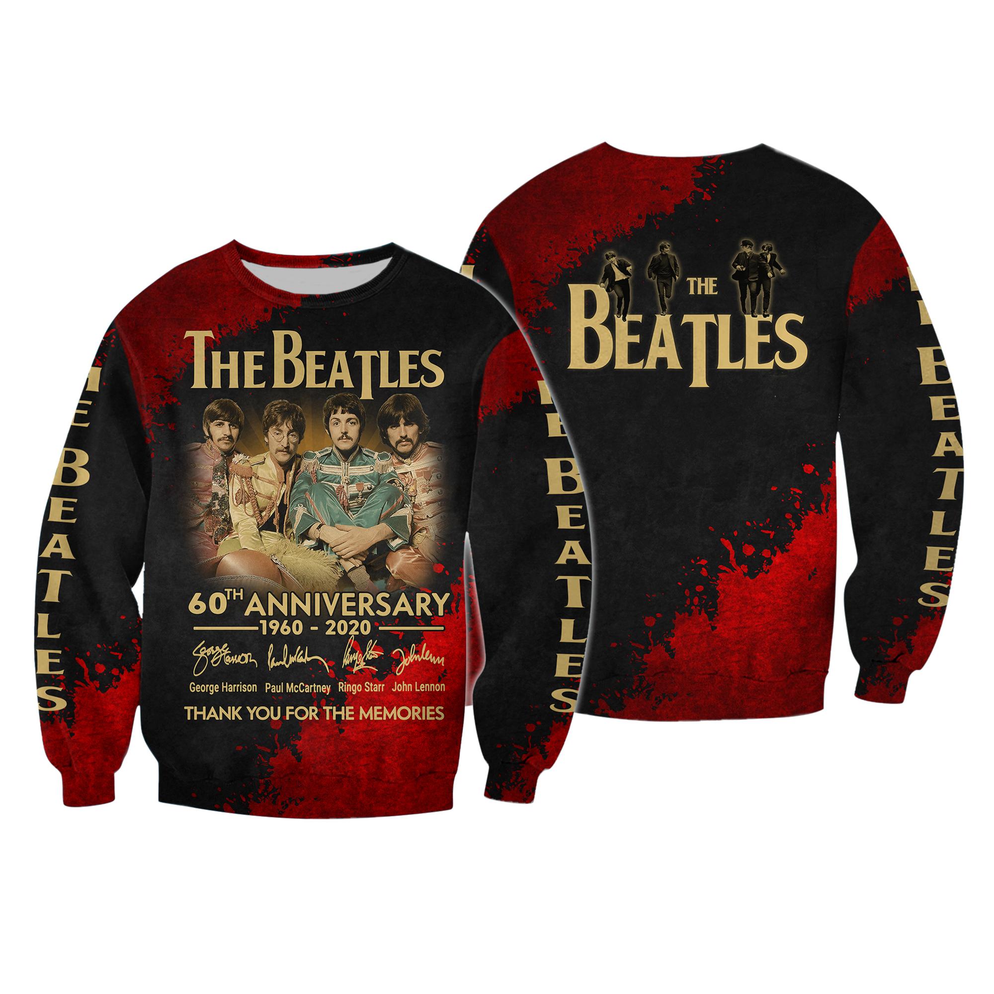 The beatles 60th anniversary 1960-2020 full printing sweatshirt
