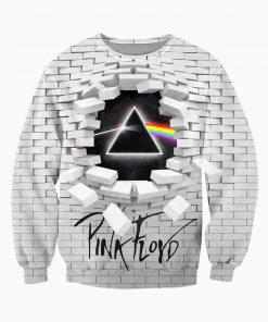 The dark side of the moon pink floyd full printing sweatshirt