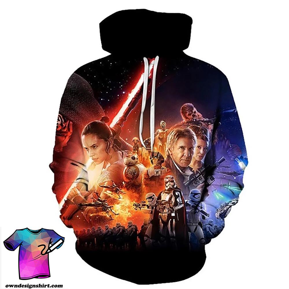 The star wars movie poster full printing shirt
