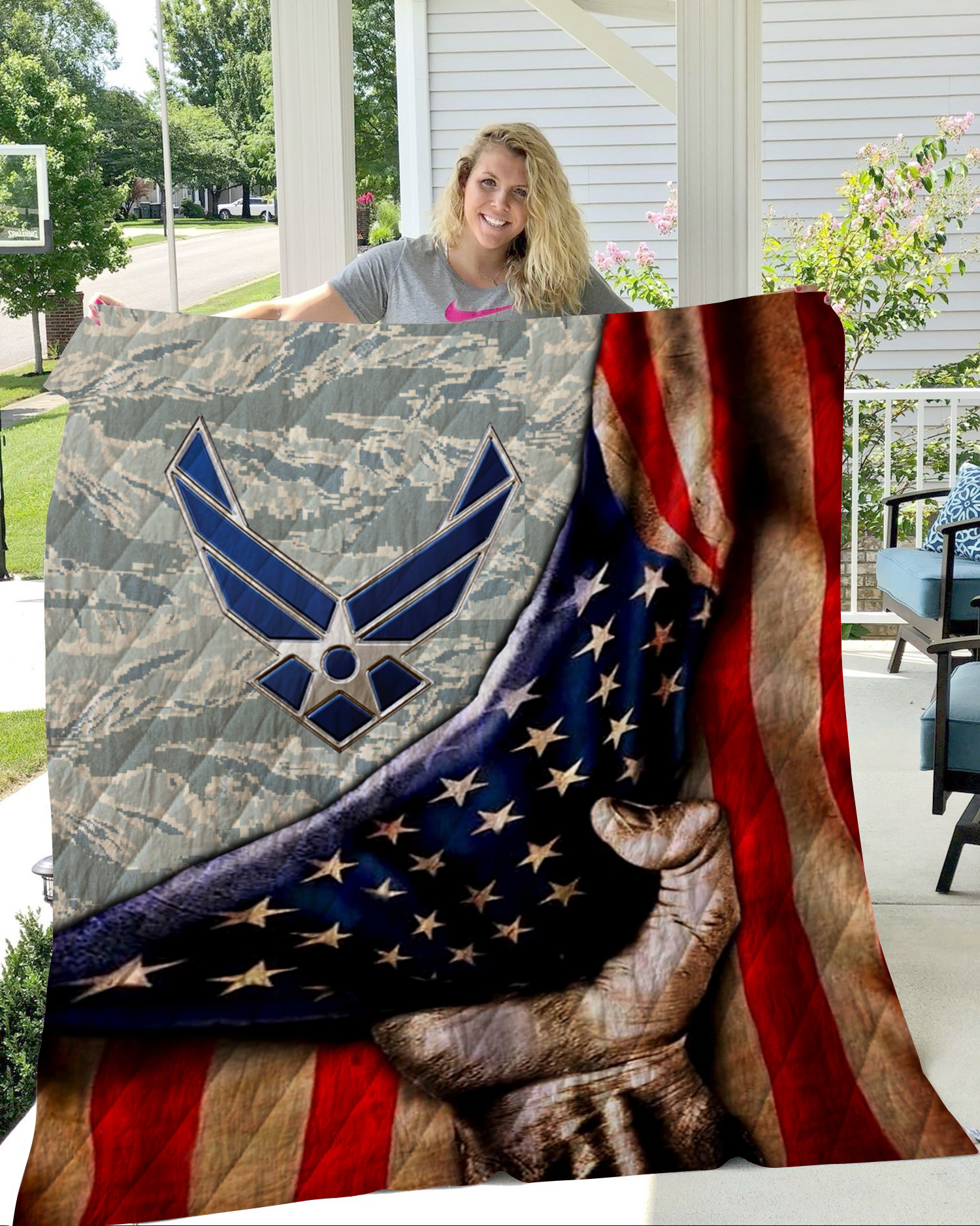 US air force all over printed quilt 1