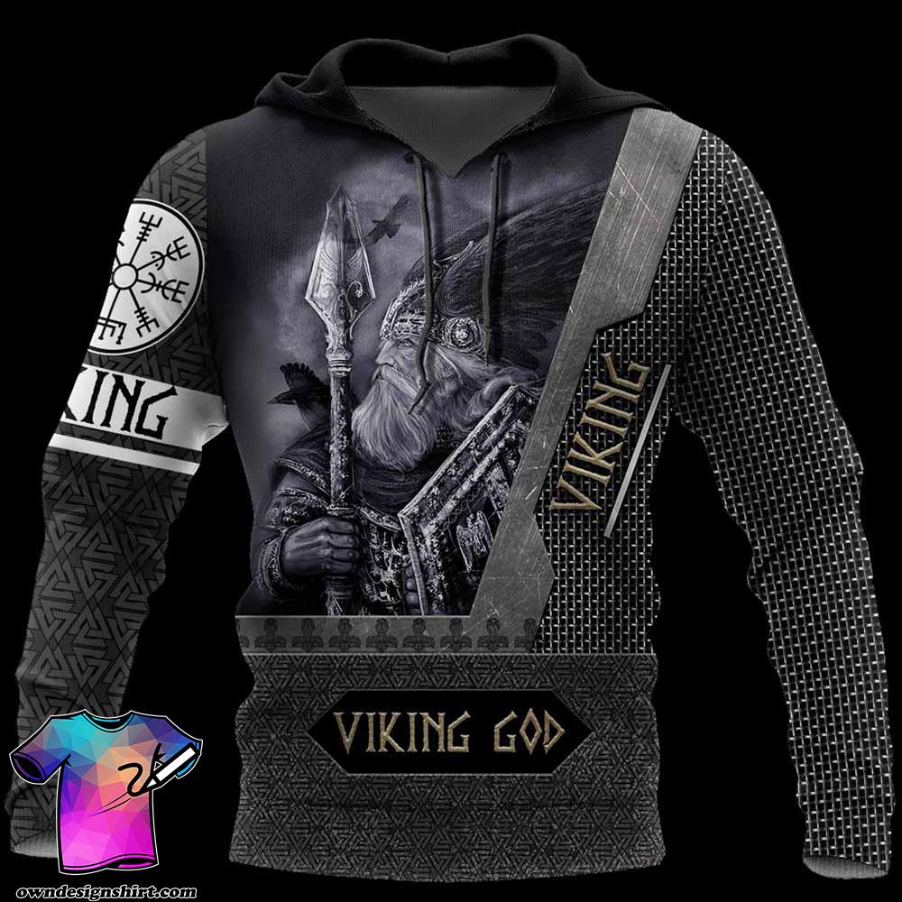 Viking God all over printed shirt