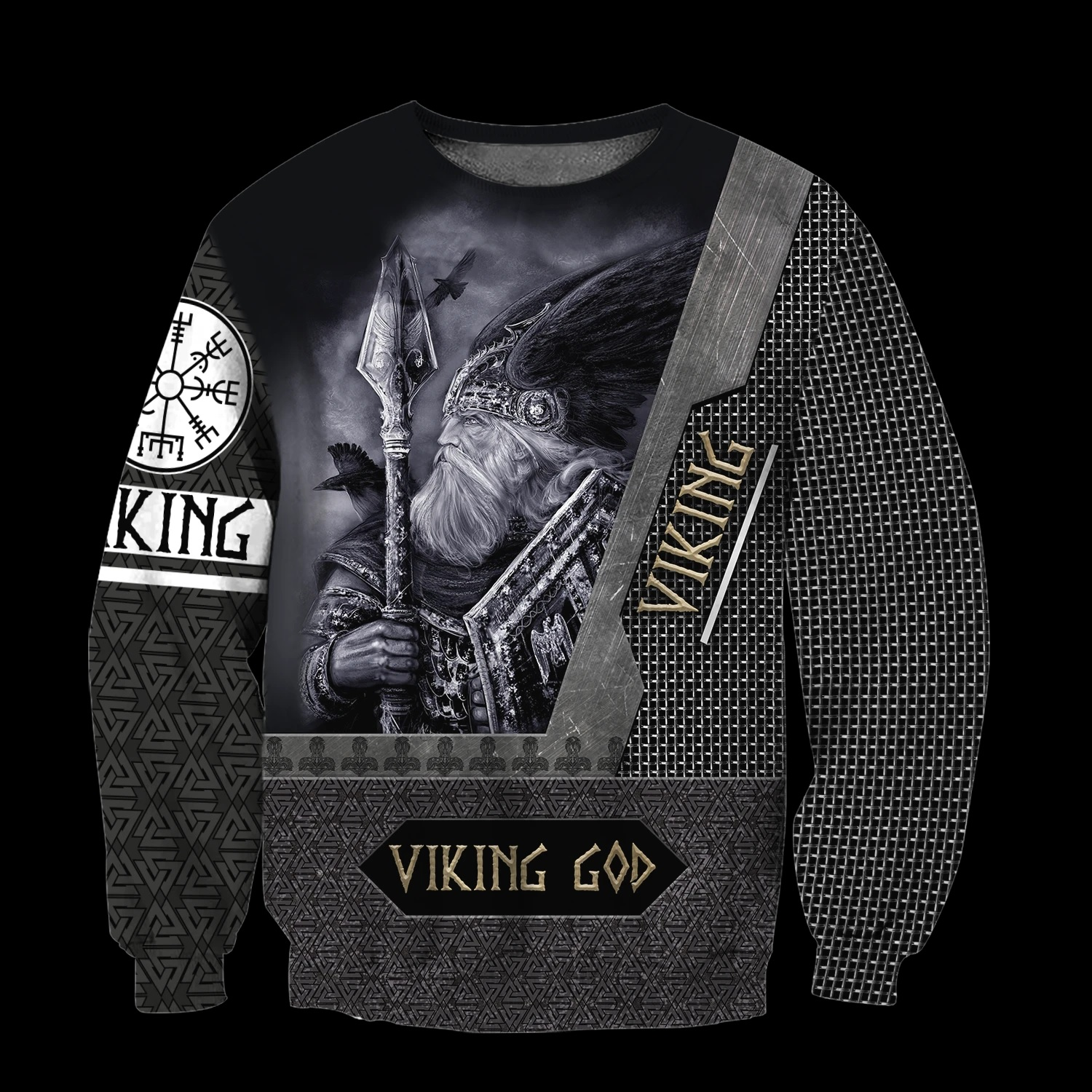 Viking God all over printed sweatshirt