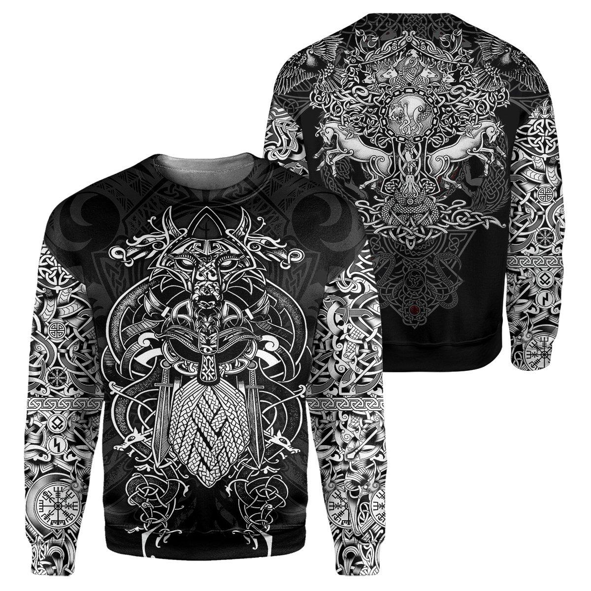 Viking all over print sweatshirt