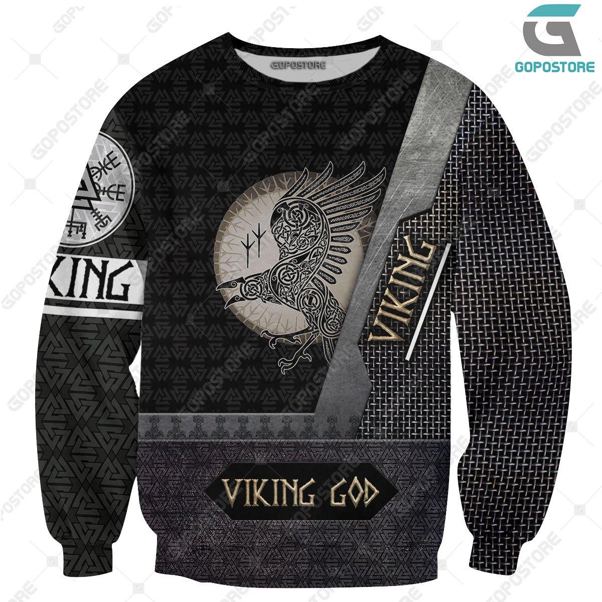 Viking god huginn and muninn full printing sweatshirt