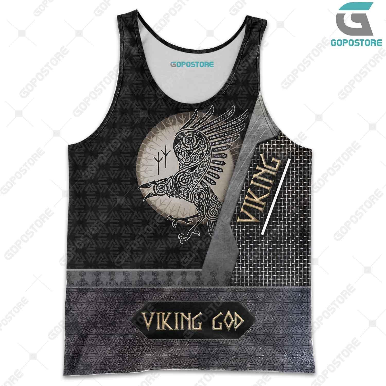 Viking god huginn and muninn full printing tank top