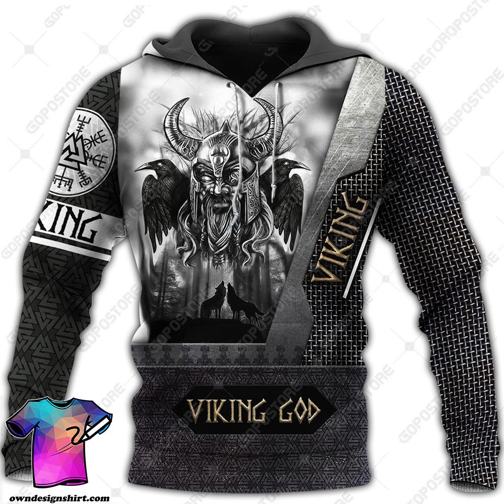 Viking god odin the all father full printing shirt